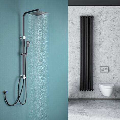 Auralum Duschsystem Duschset Moderde Design Duscharmatur Duschsystem mit Regendusche und Duschkopf Handbrause für Badezimmer Kupfer Dusche