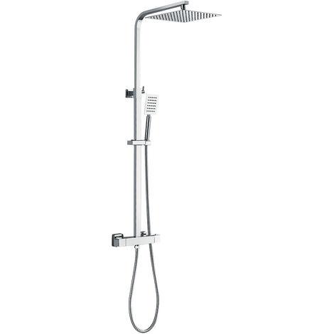 Auralum Duschsystem ohne Armatur Duschset Regenduschset, Regendusche mit Wandhalterung Dusche Duschsäule
