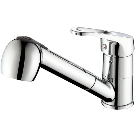 Auralum Küchenarmatur verchromt mit herausziehbarer Brause Wasserhahn Küche 360 Schwenkbarer Auslauf Einhebelmischer Spültischarmatur Mischbatterie Küche