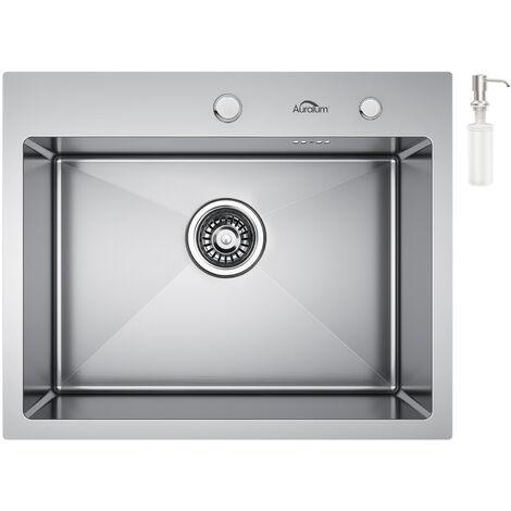 Top Auralum Küchenspüle Edelstahl Waschbecken Einbauspüle Einzelbecken JP31
