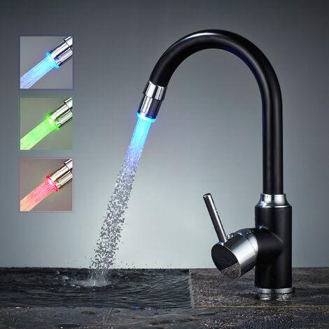 Auralum LED Wasserhahn Küche Armatur Einhebel Spültischarmatur Küche Mischbatterie