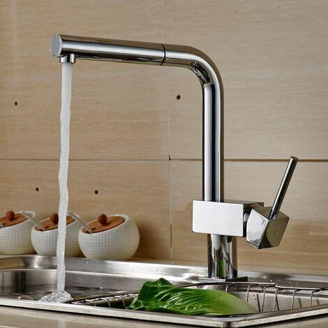 Auralum mitigeur cuisine robinet avec douchette - Robinet cuisine avec douchette extractible ...