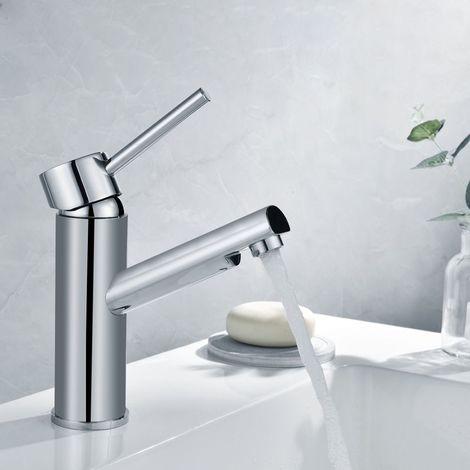 Auralum Mitigeur Evier Design Moderne Robinet De Lavabo Basse