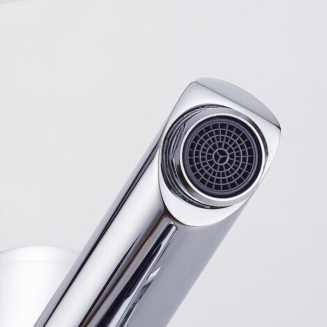 Auralum mitigeur lavabo automatique infrarouge robinet de d tection ir monotrou mousseur eau - Mitigeur lavabo salle de bain ...