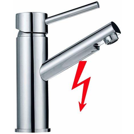 Auralum Niederdruck Wasserhahn Bad Armatur Waschtischarmatur für Badezimmer