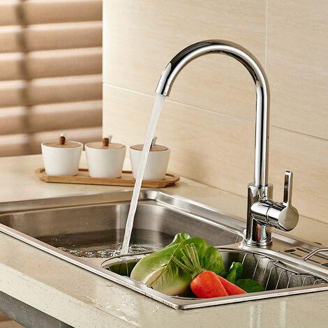 Auralum Niederdruck Wasserhahn Küche Armatur, 360° Drehbar Niederdruckarmatur Mischbatterie
