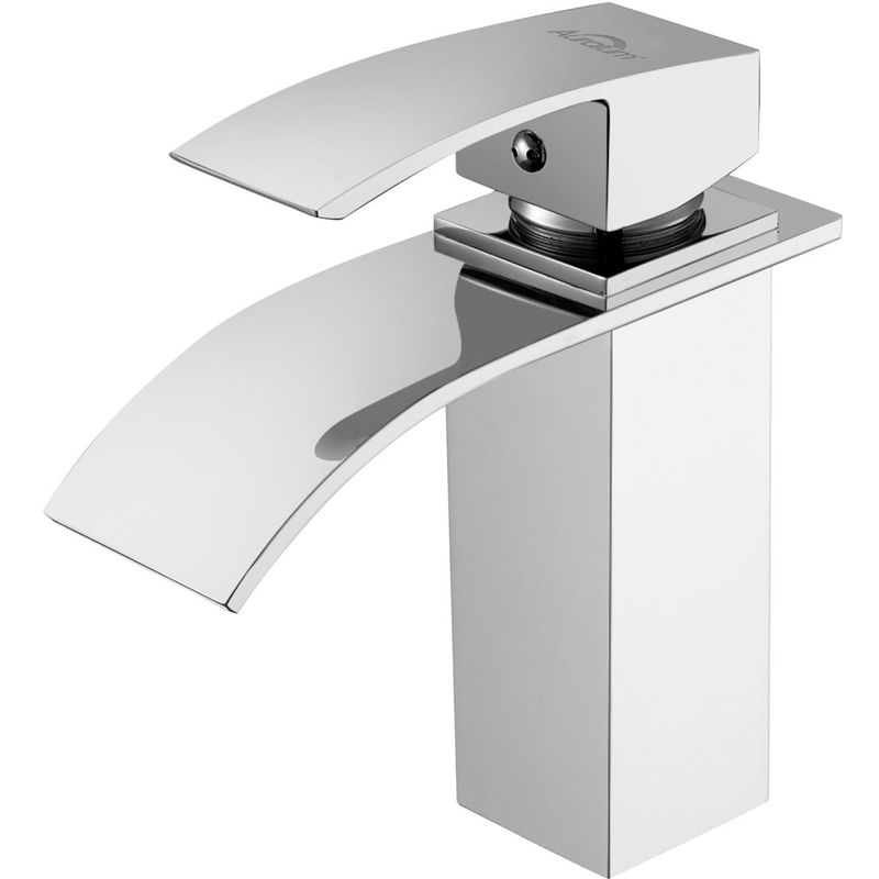 Auralum/® Mitigeur de Lavabo /Él/égant Robinet Salle de Bain Cascade en Chrome Robinet de Lavabo Design nouveau