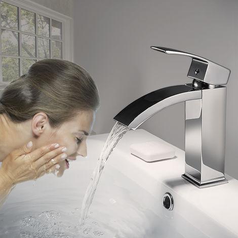 Auralum Wasserhahn Bad Armatur Wasserfall Mischbatterie Badarmatur ...