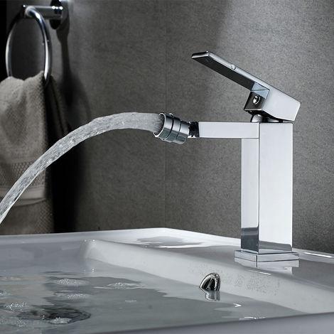 Auralum Wasserhahn Bidetarmatur Einhebelmischer Bidet Waschtischarmatur Mischbatterie Chrom