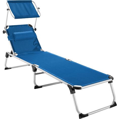Sun lounger Aurelie - garden lounger, garden sun lounger, reclining sun lounger - blue - blau