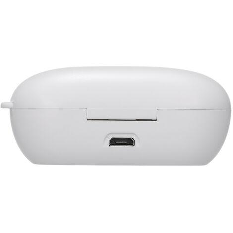 Auricular inalambrico Bluetooth 5.0, retirar del ruido, control tactil, blanca