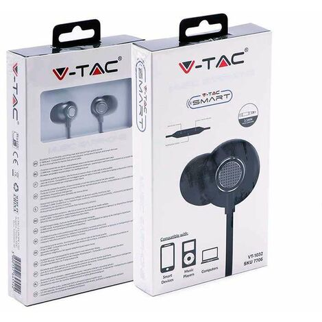 Auriculares intrauditivos V-TAC con cable