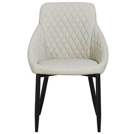 Auriga Chair - Armchair - for Dining Room, Kitchen, Living Room - Beige made of Metal, Fabric, 55 x 55 x 86 cm