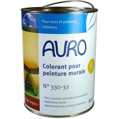 Auro - Colorant pour Peinture Murale (teinte Rouge Anglais) 2.5 l - N° 330-82