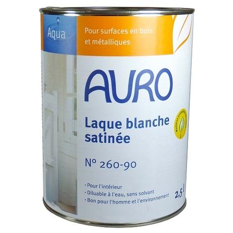 Auro - Laque blanche (couvrante et satinée) pour Bois et Métal 2,5l - N° 260-90