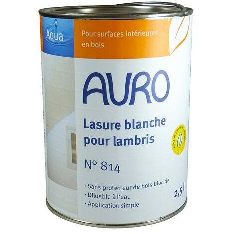 Auro - Lasure couvrante blanche pour lambris 2,5 L - N° 814 - TNT
