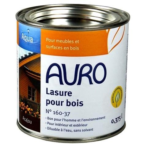 Auro - Lasure pour bois diluable (Acajou) 0,375L - N°160-37