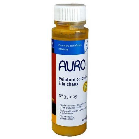 Auro - Tinte de pintura de cal (Ocre) 0,25l - 350-05