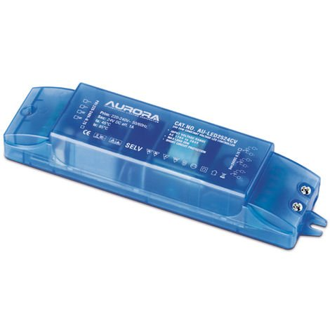 Aurora 25w 24v DC Constant Voltage LED Driver (Blue) (AU-LED2524CV)