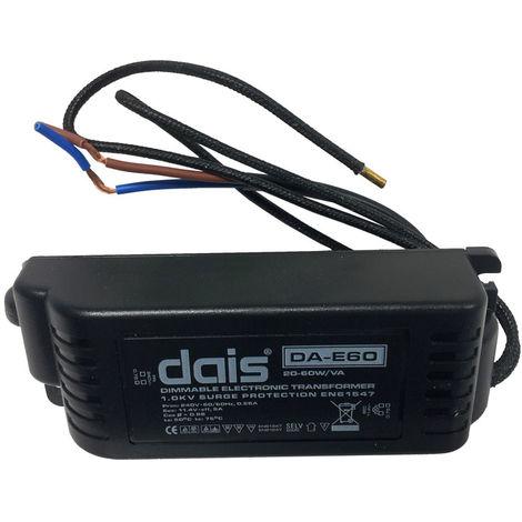 Aurora DA - E60 20 - 60W/VA Dimmable Electronic Transformer