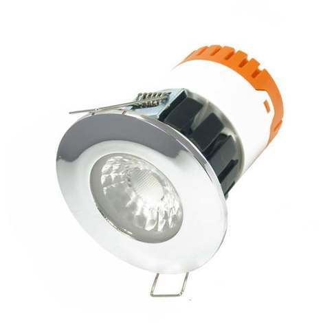 Aurora E8 LED Downlight 8W 3000K + EN-BZE8PC Polished Chrome