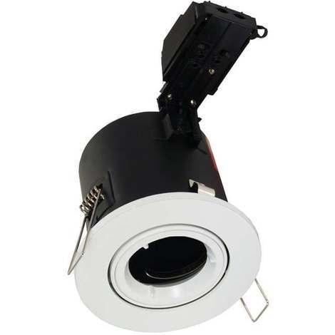 Aurora Enlite Adjustable Fire Rated Downlight GU10 White