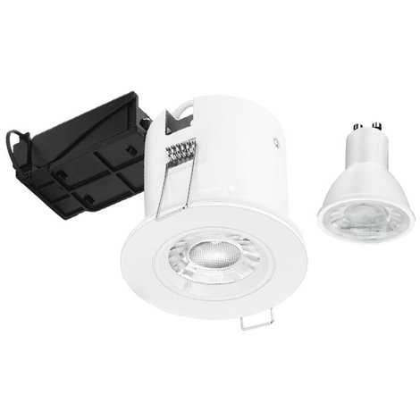 Aurora Fire Rated Downlights EFD Pro 5W 3000K Matt White Dimmable