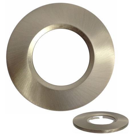 Aurora Satin Nickel Round Bezel For Fixed MPRO1 LED Downlights (AU-BZ600SN)
