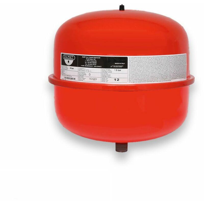 Stabilo-Sanitaer Ausdehnungsgefäß 50L stehend rot Ausgleichsbehälter Heizung