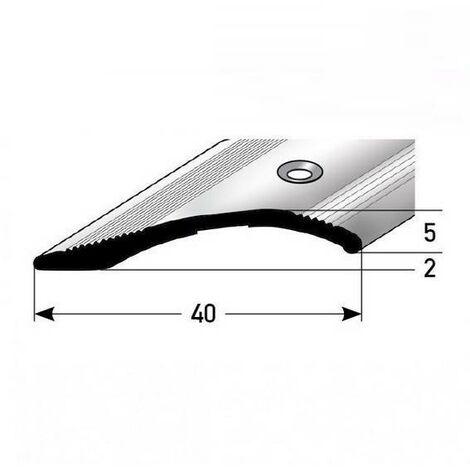 """Ausgleichsprofil / Anpassungsprofil """"Creston"""", Ausgleich: 2 - 16 mm, 40 mm breit, Aluminium eloxiert, gebohrt / selbstklebend"""