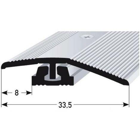 """Ausgleichsprofil / Anpassungsprofil für Laminat / Parket / Vinyl """"Halsey"""", für Höhe 4 - 7 mm, 33,5 mm breit, 2-teilig, Aluminium eloxiert, gebohrt"""