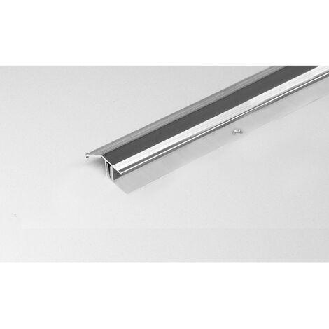 """Ausgleichsprofil / Anpassungsprofil für Laminat / Parkett """"Bellingham"""", für Höhe 15 - 24 mm, 50,5 mm breit, 2-teilig, Aluminium eloxiert, gebohrt"""