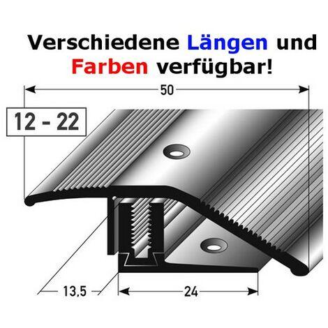 """main image of """"Ausgleichsprofil / Anpassungsprofil Laminat """"Halifax"""" Höhe 12 x22 mm, 50 mm breit, 3-teilig, Aluminium eloxiert, gebohrt, Flex"""""""