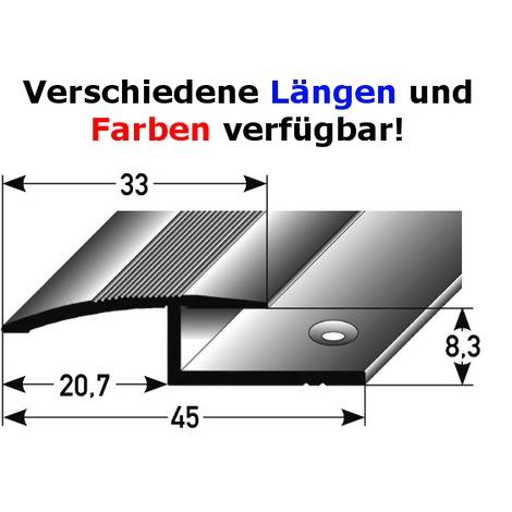"""Ausgleichsprofil / Anpassungsprofil Laminat """"Tilbury"""", 8,3 mm Einfassung, 27 mm breit, 1-teilig, Aluminium eloxiert, gebohrt"""