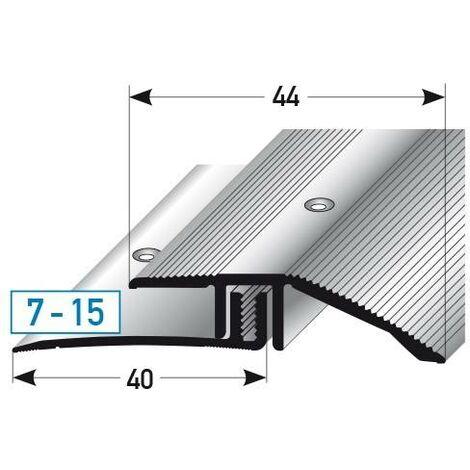 """Ausgleichsprofil / Anpassungsprofil Laminat, """"Vancouver"""", Höhe 7 - 15 mm, 44 mm breit, 2-teilig, Aluminium eloxiert, gebohrt"""