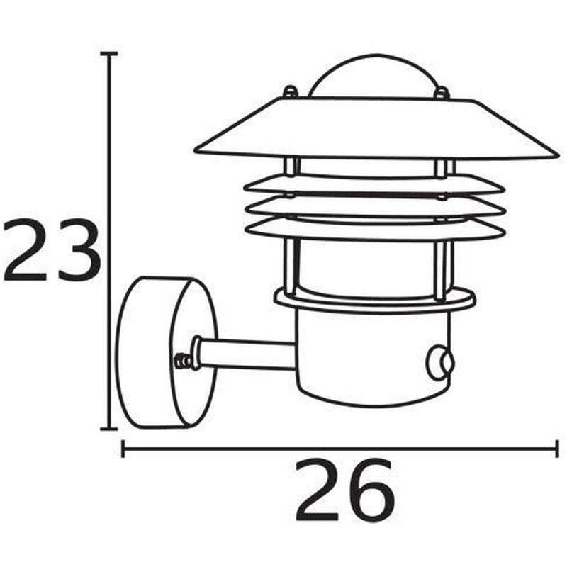 Nordlux 25101031 Vejers Sensor Aussen-Wandleuchte Zink