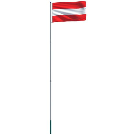 Austria Flag and Pole Aluminium 6 m