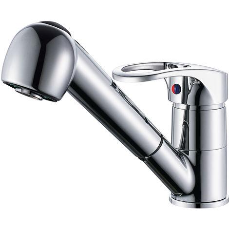Ausziehbare Küchenarmatur Küche Wasserhahn mit Zwei Funktion Brause Einhebelmischer Küche Spültisch Armatur Spültischarmaturen Mischbatterie