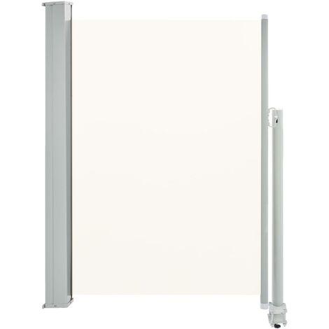 Ausziehbare Seitenmarkise 100 x 300 cm Creme