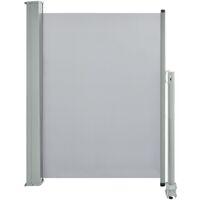 Ausziehbare Seitenmarkise 100 x 300 cm Grau