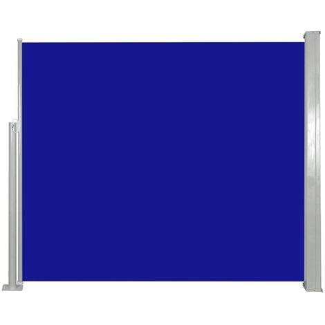 Ausziehbare Seitenmarkise 120 x 300 cm Blau