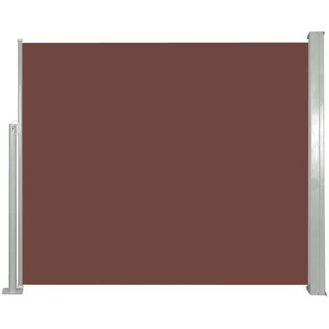 Ausziehbare Seitenmarkise 120 x 300 cm Braun