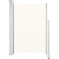 Ausziehbare Seitenmarkise 120 x 300 cm Creme