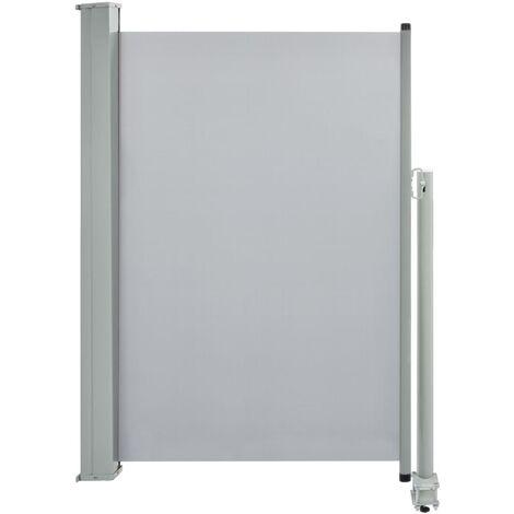 Ausziehbare Seitenmarkise 120 x 300 cm Grau