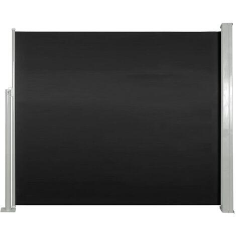 Ausziehbare Seitenmarkise 120 x 300 cm Schwarz