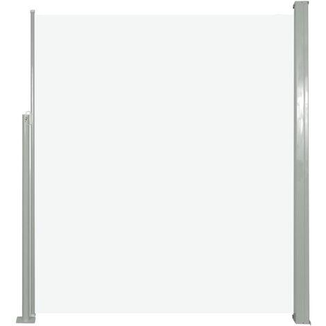 Ausziehbare Seitenmarkise 160 x 500 cm Creme