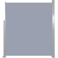 Ausziehbare Seitenmarkise 160 x 500 cm Grau