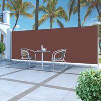 Ausziehbare Seitenmarkise 180 x 500 cm Braun