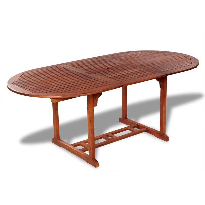 Ausziehbarer Gartentisch Esstisch Akazienholz