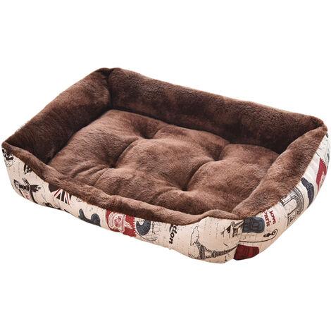 Auto-calentamiento del cojin Perros Gatos Cama almohada suave cama confortable, todas las estaciones del gato lavables cama Mat tanto para interiores Perros Gatos 70 * 52cm Gris